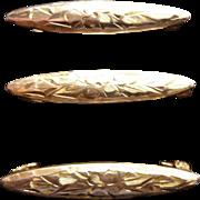 10K YG Lingerie  Bar Pin Set of 3