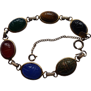 Karen Lynne Gold Filled Genuine Stone Scarab Bracelet