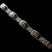 Siam Niello Sterling 925 Panel Bracelet Dancing Mekkala
