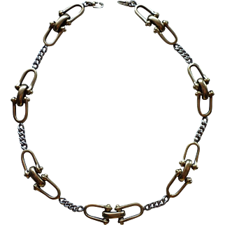 TANE  Gold Sterling Bridle Chain Necklace