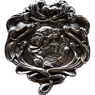 Art Nouveau Period 1900 Unger Bros. Sterling Pin.