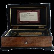 THORENS Swiss 6 Song 41 Note Wood Music Box