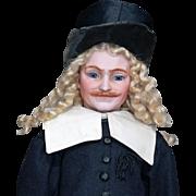 Very Rare Simon & Halbig 1308 Man with Molded Mustache