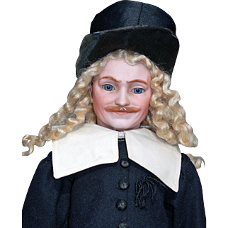 Very Rare Simon & Halbig 1308 Man with Molded Mustache