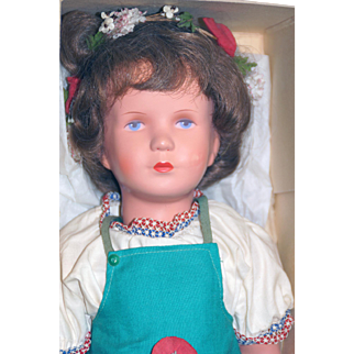 UZ Zone All Celluloid Kathe Kruse Doll in Original Box