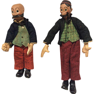 Bucherer Mutt and Jeff Metal Jointed Figures