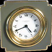 Original Cartier table alarm clock, excellent condition. No case.