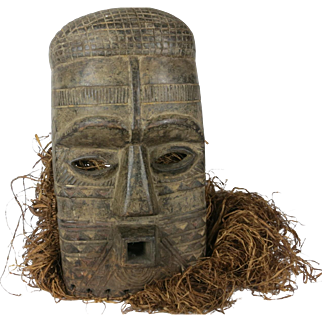 Tribal art mask #19- BIOMBO- DR Congo