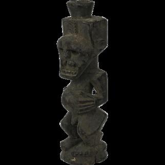 African tribal art SONGYE statuette- DR Congo