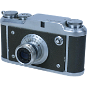 DUCATI SIMPLEX, half-frame 35mm viewfinder camera, made in Italy, ca. 1953, EXC++.