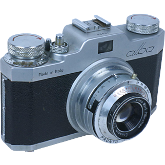 GAMMA ALBA, 35mm viewfinder  camera, made in Italy by Gamma, Rome. Ca. 1956. Ennagon 45mm/2.8 lens.