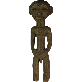 African tribal art statuette-LUBA- DR Congo