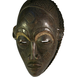 African tribal art mask-CHOKWE- DR Congo