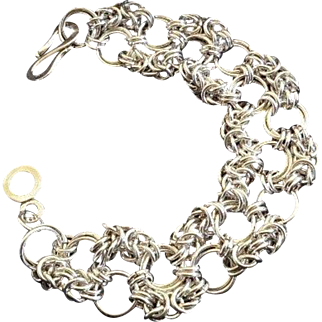 "Bracelet of sterling silver  925"""