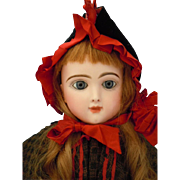 """24"""" French Jumeau Bebe Francais Bisque Socket Head Closed Mouth Child"""