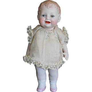 "5.75"" German All Bisque Bonnie Babe by Georgene Averil All Original"