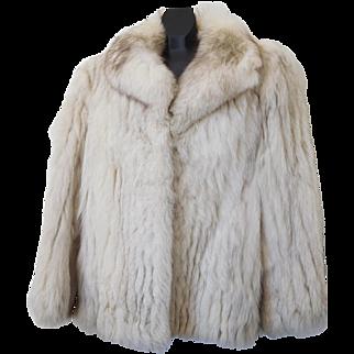 Vintage Saga Norway Blue Fox Jacket Coat USA Size XL