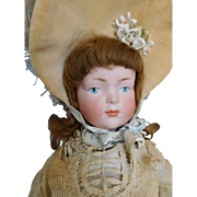 "Gorgeous! Kley & Hahn 526 Character 19"" Bisque Socket Head Girl in All Original Clothes"