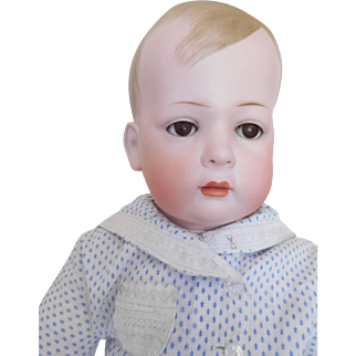 """Adorable! Bruno Schmidt 21"""" Tommy Tucker Bisque Toddler Character Closed Mouth Boy"""