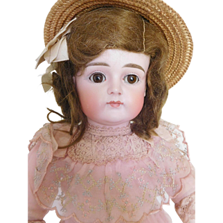 """Wow! Kestner XI Closed Mouth 17"""" Bisque Child Great Body & Clothes Orig. Wig"""