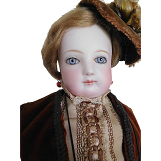 "17"" Jumeau French Fashion Puppe Pressed Bisque Lady"
