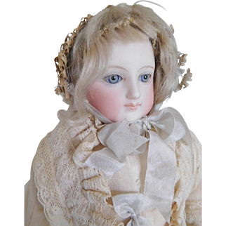 "15"" French Fashion Puppe Pressed Bisque Lady"