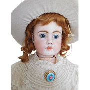 "18"" Sonnenberg Belton Type Bisque Child Closed Mouth w/ Straight Wrists"
