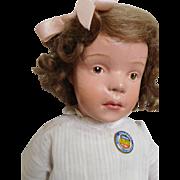 "20"" Schoenhut 308 Pouty Character Wood Girl"