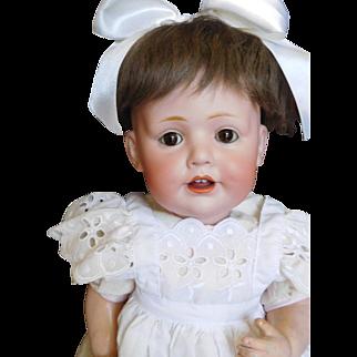 "18"" Kestner 247 Baby Jean, Hilda Sister Bisque Happy Baby"