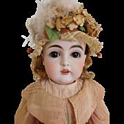 """Antique Kestner 129 Bisque Socket Head 18"""" Child"""
