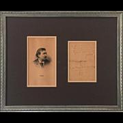 Paul Gustave Dore C. 1853 ALS Letter Autographed Signature Signed