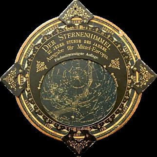 Beautiful Rotating Celestial Star Map German C. 1890 - 1910