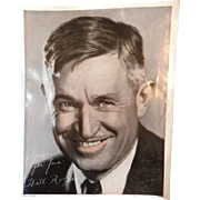 Vintage Will Rogers Movie Head Shot Yours For Fun Oklahoma Photo Picture