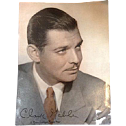 Vintage Clark Gable MGM Metro-Goldwyn- Mayer Star Movie Head Shot Photo Picture