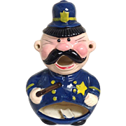 Vintage Police Officer Bobby Whimsical Ashtray