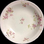 Schleiger pattern No. 42 Haviland & Co Limoges France Pink Roses Bowl