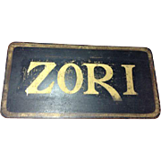 Vintage Advertising Sign Zori