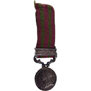 Antique Royal Military Victoria Medal India Punjab Frontier Ribbon Service