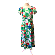 Vintage Bird of Paradise Hawaiian Dress MuuMuu