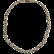 Vintage Necklace Choker Vanity Brushed Gold Toned Style