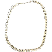 Vintage Rhinestone Necklace Choker Costume Jewelry