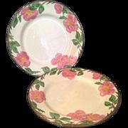 """Franciscan Desert Rose Dinner Plates Plate 10 1/2"""" England Pottery"""
