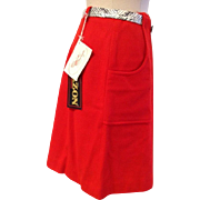 Vintage Sweet Swinger Blazon Red Ladies Golf Skirt