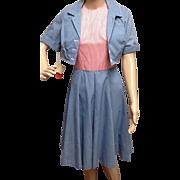 Vintage NWT Gingham Bolero Dress