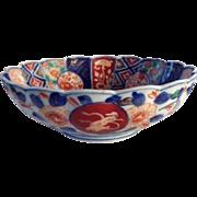 Japanese Antique Imari Bowl Floral Dragon