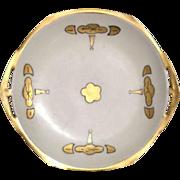 Decorative Plate Porcelain Cream Gold M Z Austria