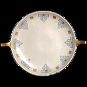 Decorative Plate Porcelain Cream Gold Blue Selb Bavaria Bavarian