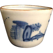 Antique Japanese Blue Soba Choko Cup Noodles Broth Soup E