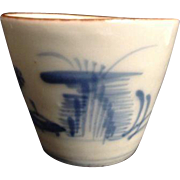 Antique Japanese Blue Soba Choko Cup Noodles Broth Soup G