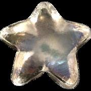 Robert Held Art Glass RHAG Clear Star Paperweight